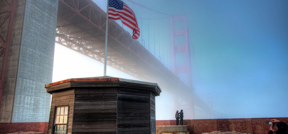 Golden Gate Above Fort Point